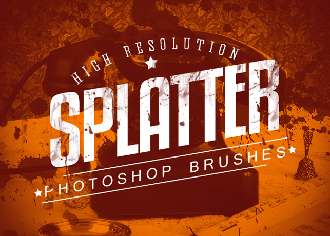 7 Splatter Photoshop Brushes