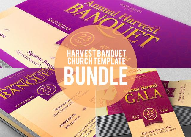 Harvest Banquet CHurch Template Bundle