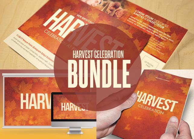 Harvest Celebration Church Template Bundle