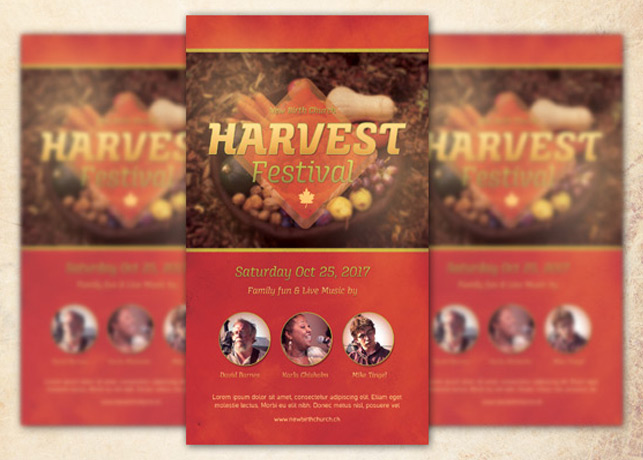 Harvest Festival Church Flyer Template