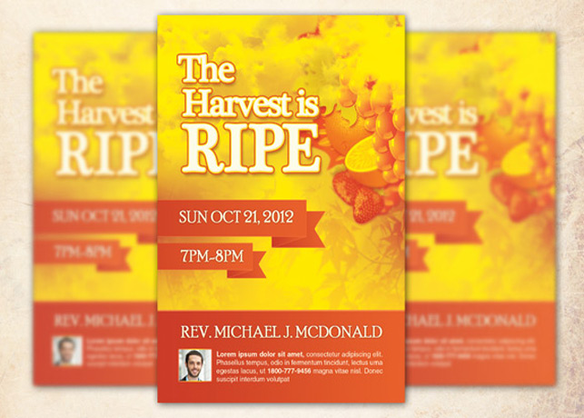 Harvest is Ripe Church Flyer Template