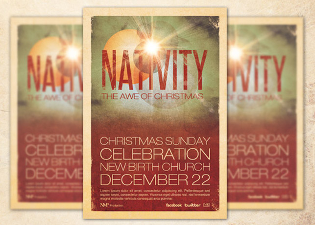 Nativity Church Flyer Template