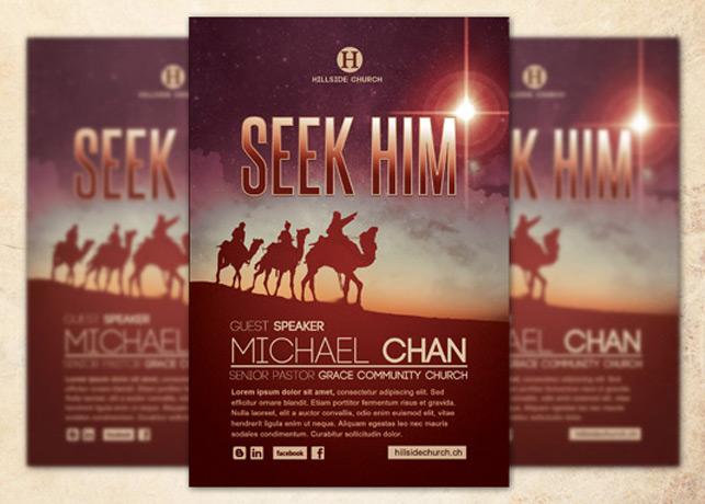 Seek Him Church Flyer