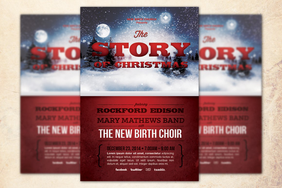 The Story of Christmas Church Flyer