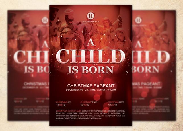 A Child is Born Church Flyer
