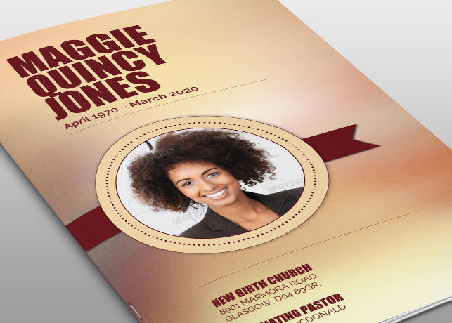 Live Strong Funeral Program Template