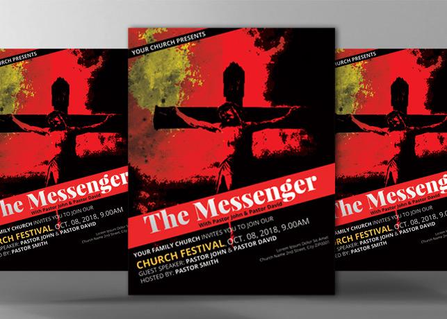 The Messenger Church Flyer Template