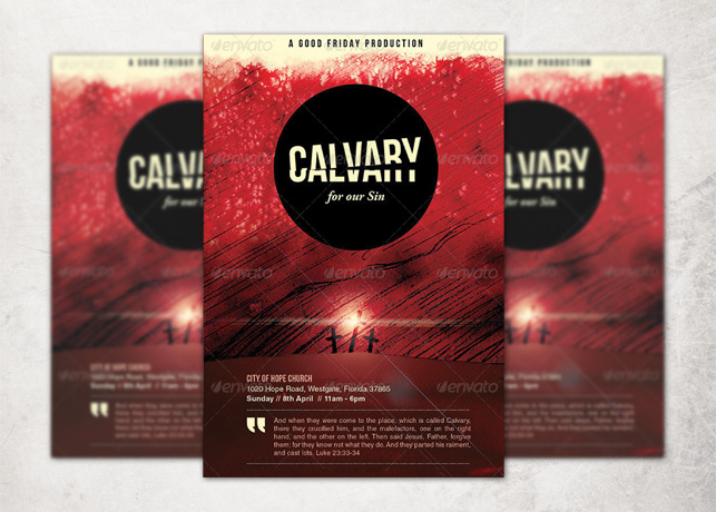 Calvary for Our Sins Church Flyer and CD Template