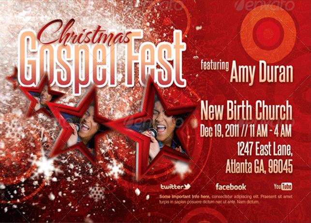 Christmas Gospel Fest Church Flyer Template