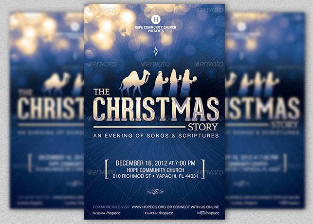 Christmas Event Flyer Poster Template