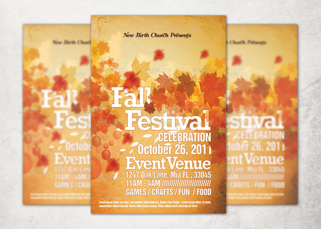 Church Fall and Harvest Festival Template