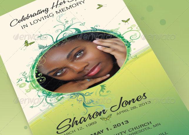 Decorative Tri-Fold Funeral Program