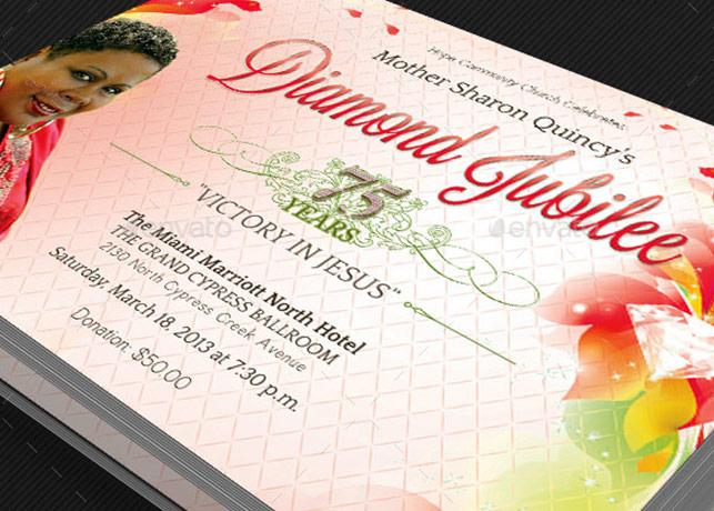 Diamond Jubilee Flyer Templat