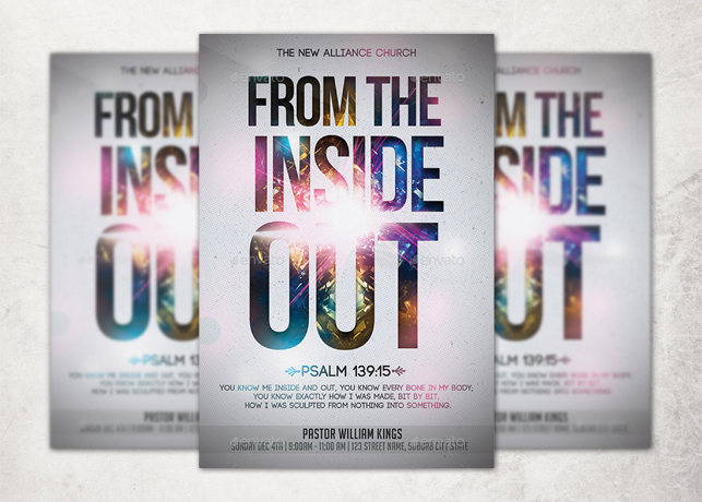 From The Inside Out Church Flyer Template