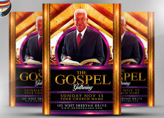 Gospel Gathering Flyer Template