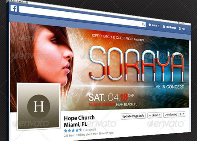 Gospel Pop Artist Facebook Timeline Cover Template