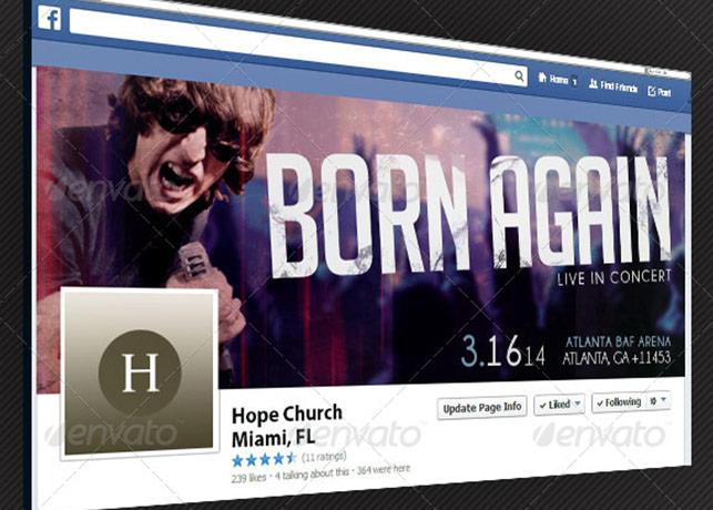 Gospel Rock Band Facebook Timeline Cover Template