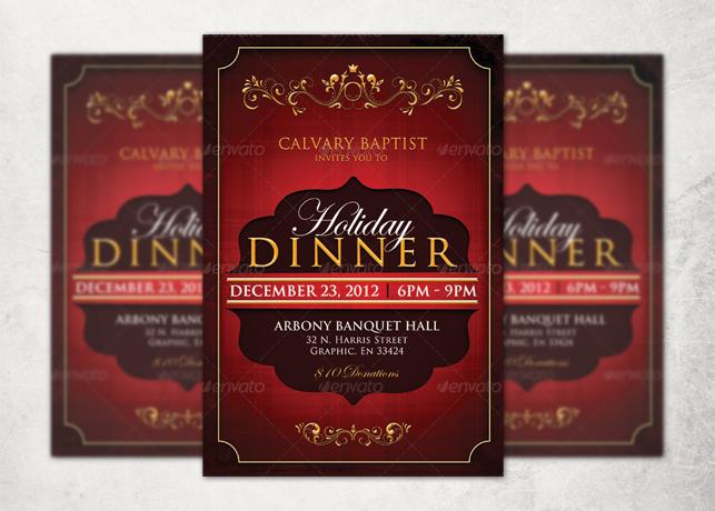 Holiday Dinner Church Flyer Template