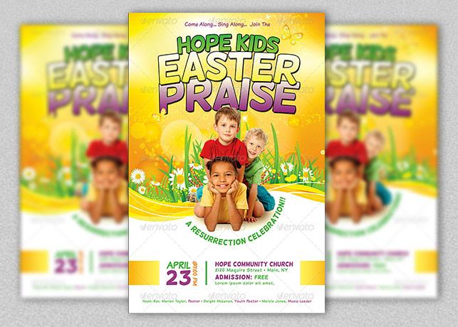 Kids Easter Praise Church Template