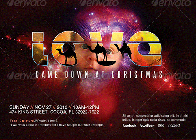 Love Came Down Church Flyer Template