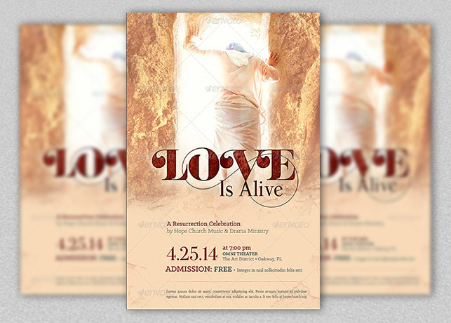 Love Is Alive Church Flyer Template