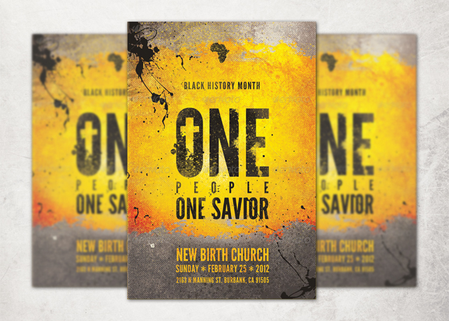 One People One Savior Church Flyer and CD Template