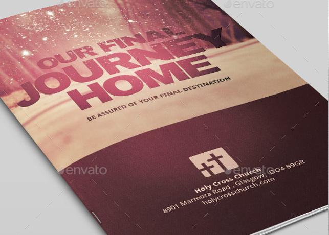 Our Final Journey Church Bulletin Template