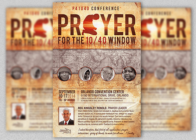 Prayer Conference Church Flyer Template