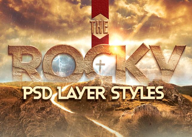 Rocky Photoshop Layer Styles