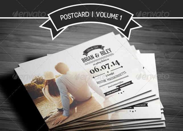 Save The Date Postcard Volume 1