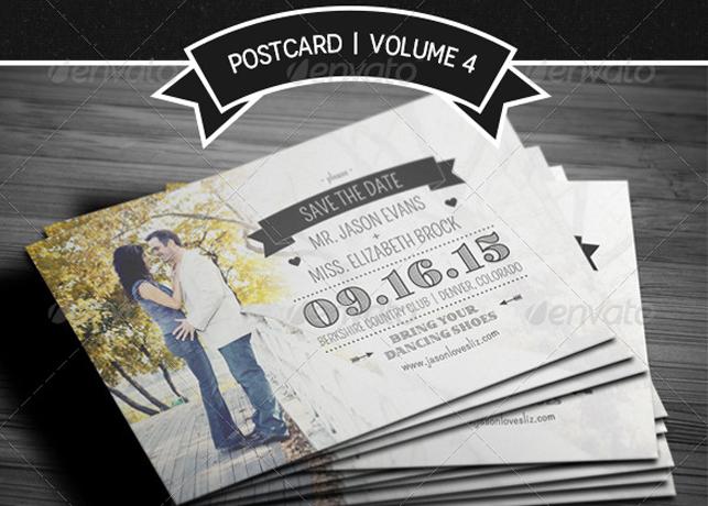 Save The Date Postcard | Volume 4