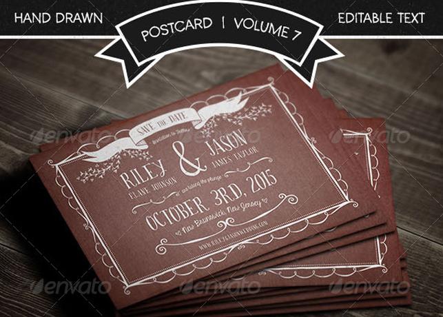 Save The Date Postcard Volume 7