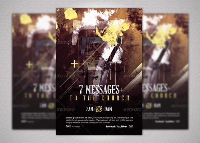 Seven Messages Church Flyer Template