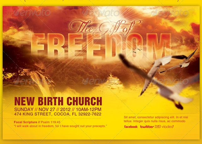 The Gift of Freedom Flyer and CD Template