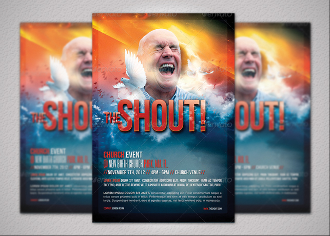 The Shout Church Event Flyer Template