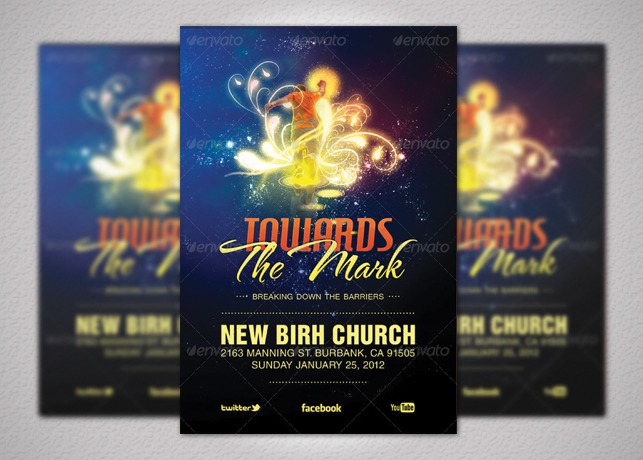Towards the Mark Church Flyer and CD Template