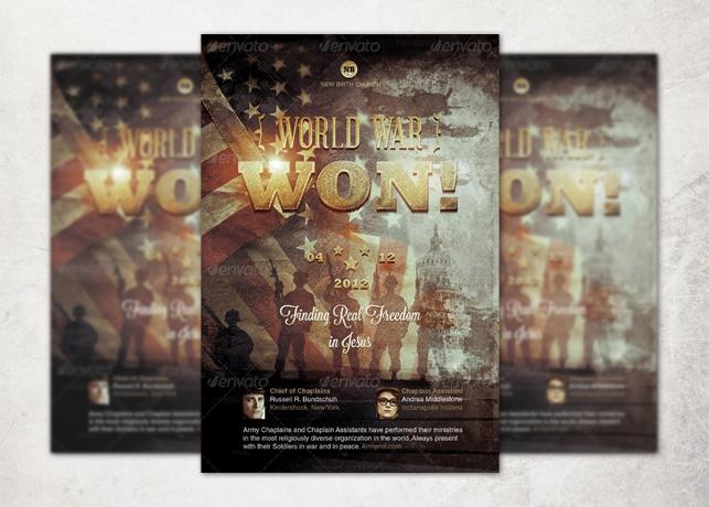 World War Won! Flyer and CD Template