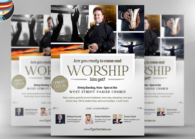 Worship Church Christian Flyer Template