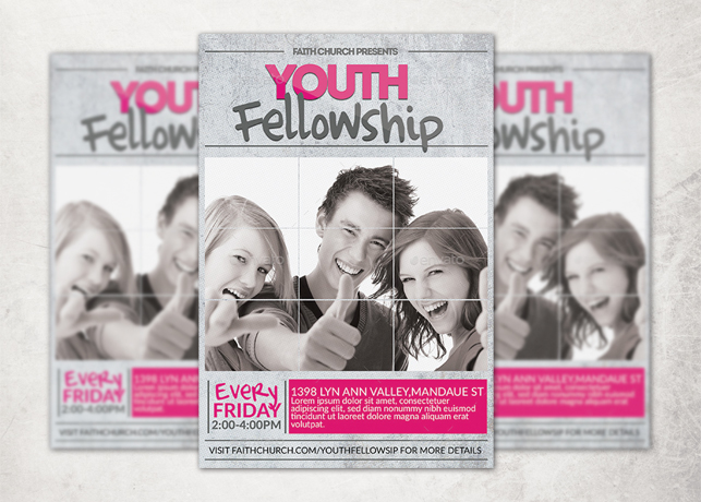 Youth Fellowship Church Flyer Template