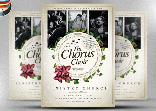 Chorus Choir Modern Church Flyer Template Inspiks Market