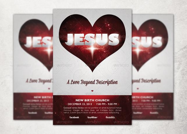 A Love Beyond Description Church Flyer and CD