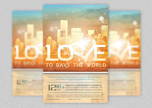 A Love to Save Christmas Flyer Template