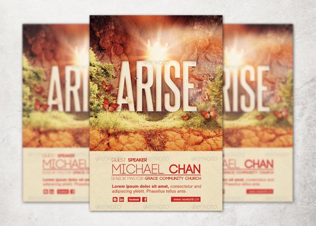 Arise Church Flyer Template