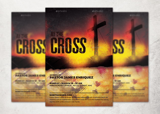 At the Cross Church Flyer Template