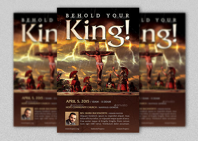 Behold Your King Flyer and Poster Template