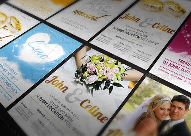Bundle III. - Love & Wedding - Flyer Template