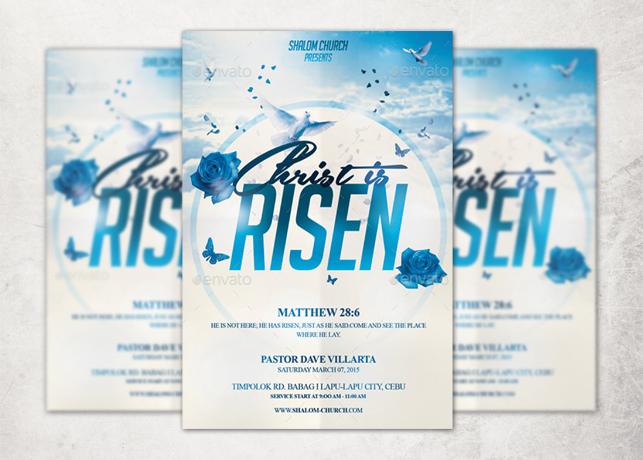 Christ is Risen Church Flyer Template