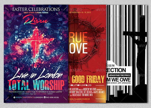 Christian Church Themed Flyer Bundle
