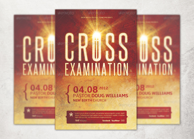 Cross Examination Flyer, CD and Jewel Case