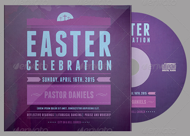 Easter Celebration CD Artwork template
